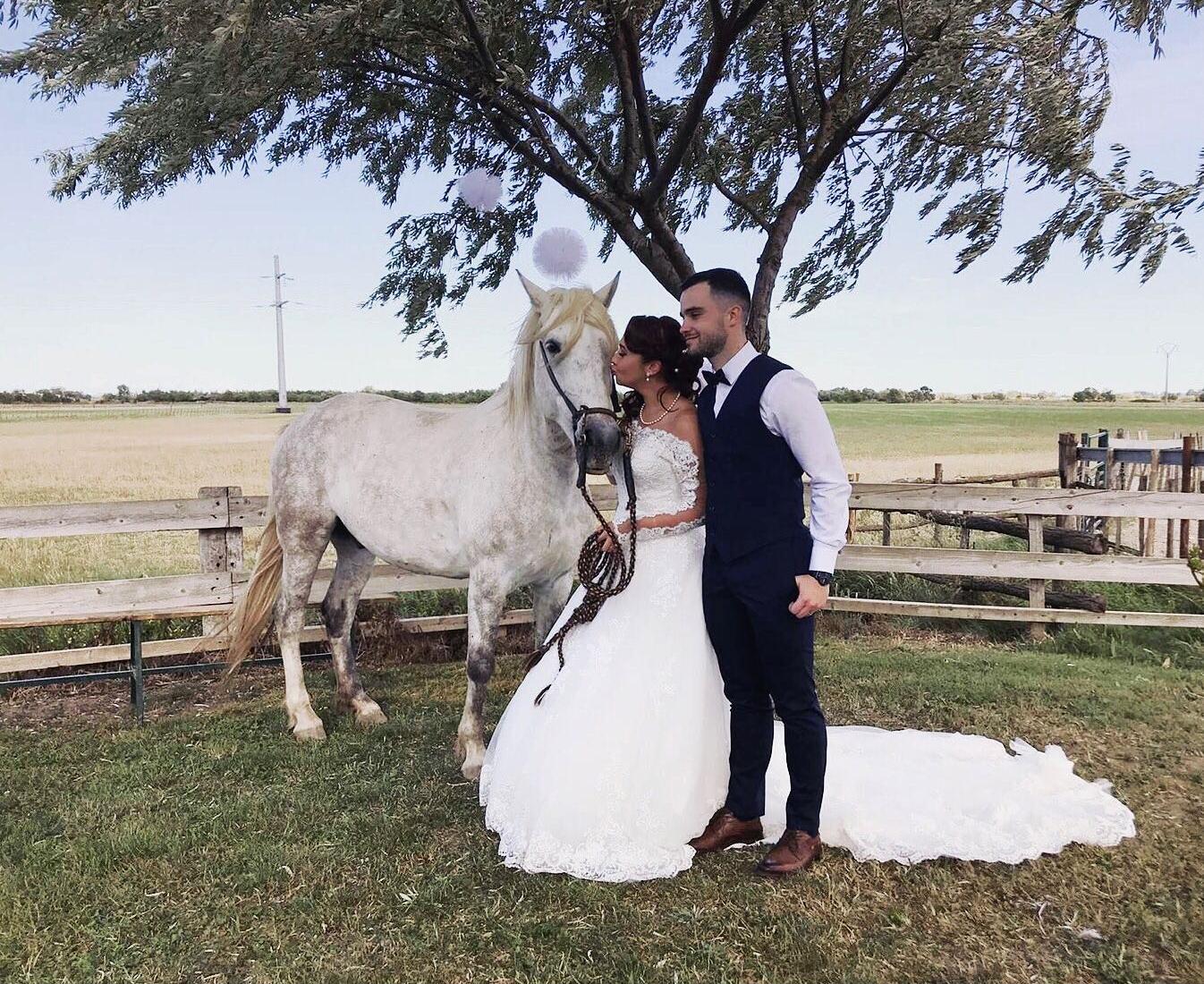 mariage manade chaballier cheval camargue champêtre